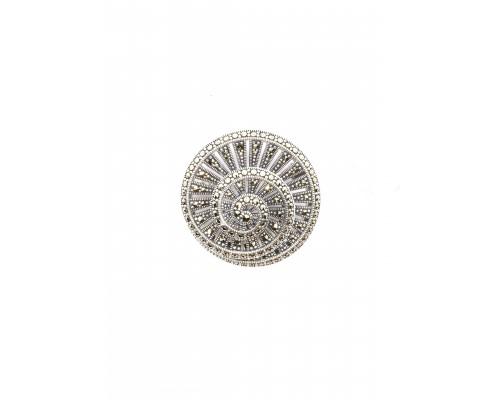 Серебряное Брошь арт. HB0479 Марказит Swarovski