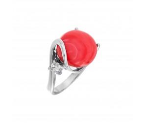 Кольцо арт. 012992 Коралл, Фианит