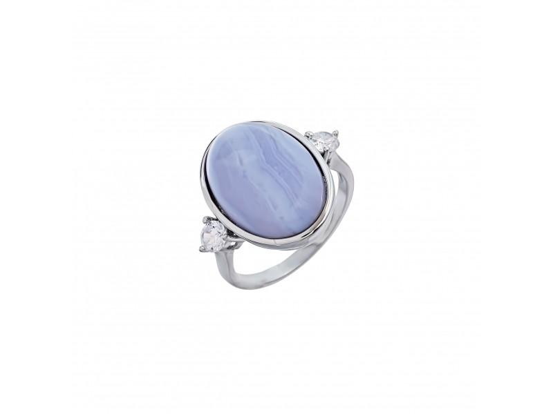 Серебряное Кольцо арт. 10514 Агат, Фианит