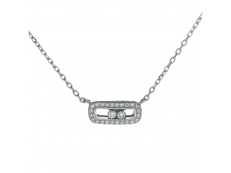 Серебряное Колье арт. 60211 Фианит