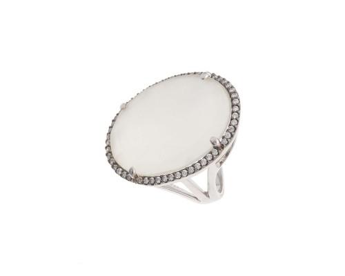 Серебряное Кольцо арт. D1140076 Агат, Фианит