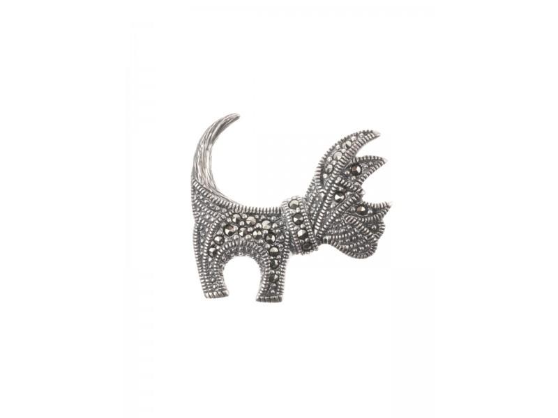 Серебряная Брошь арт. HB029 Марказит Swarovski