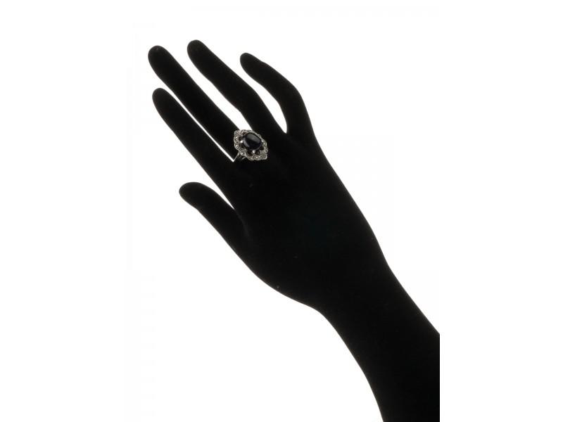 Серебряное Кольцо арт. HR1297 Марказит Swarovski, Оникс
