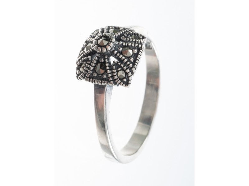 Серебряное Кольцо арт. HR505 Марказит Swarovski