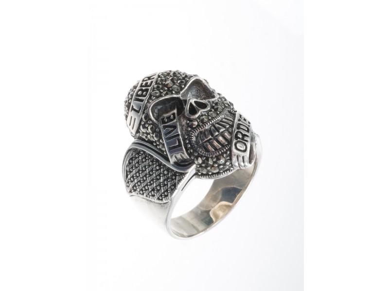 Серебряное Кольцо арт. HR854 Марказит Swarovski