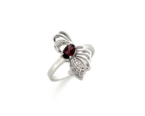 Серебряное Кольцо арт. J11733 Рубеллит, Фианит