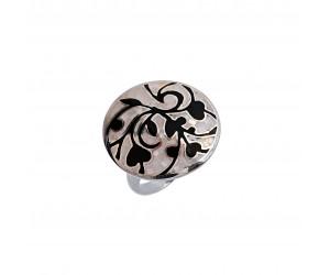 Кольцо арт. OR13450 Перламутр, Эмаль