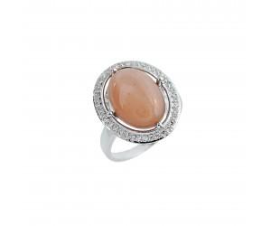 Кольцо арт. PR3326 Лунный камень, Фианит