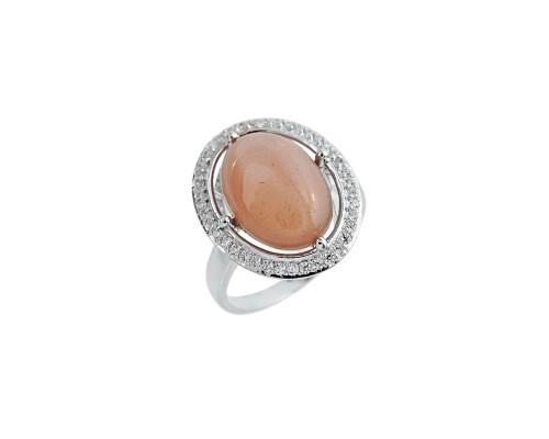 Серебряное Кольцо арт. PR3326 Лунный камень, Фианит