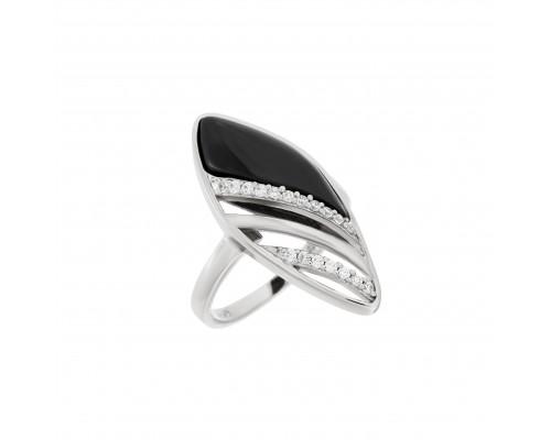Серебряное Кольцо арт. R0032 Керамика, Фианит