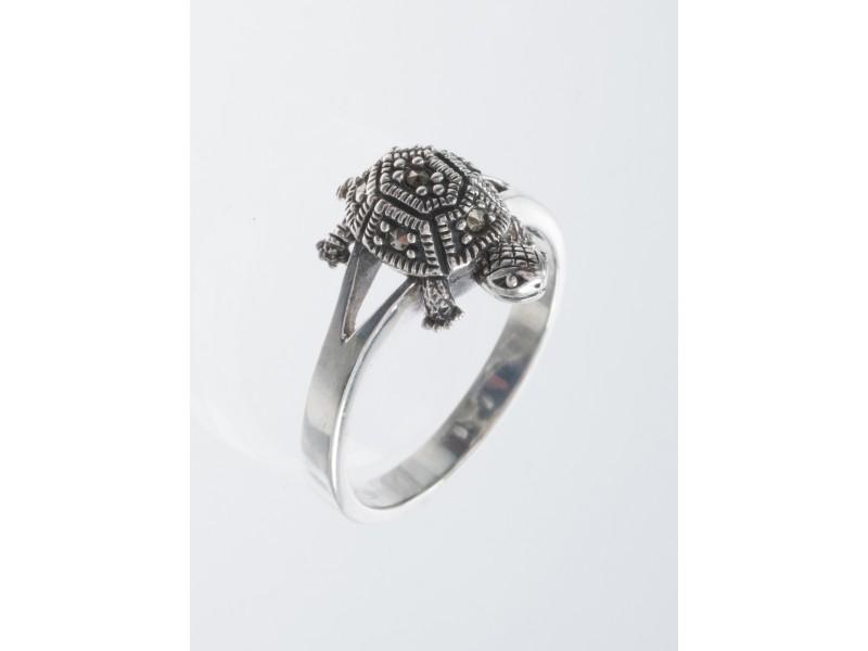 Серебряное Кольцо арт. HR556 Марказит Swarovski